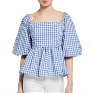 NWOT English Factory Savannah Gingham Blouse